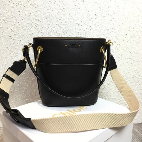 Chloe Roy Mini Smooth Leather Bucket Bag S126 black
