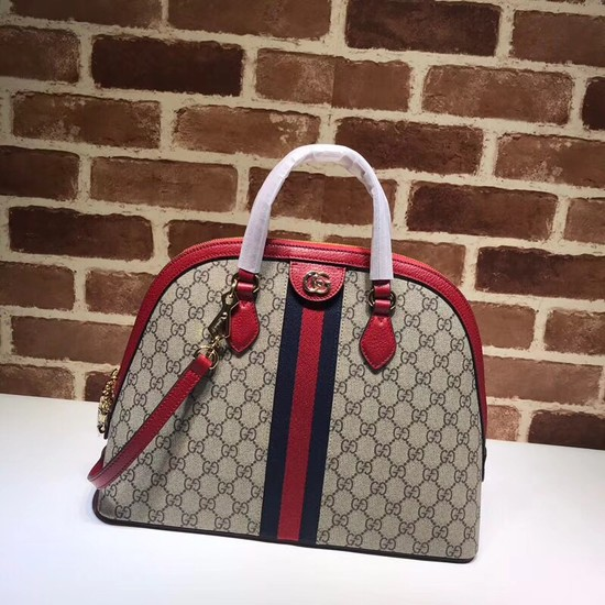 Gucci Ophidia GG medium top handle bag 524533 red