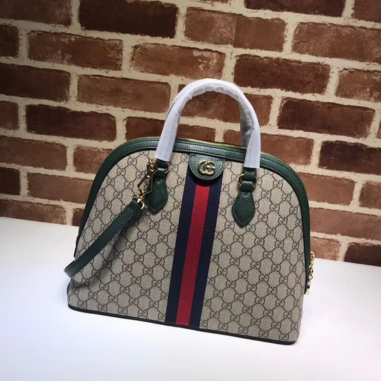 Gucci Ophidia GG medium top handle bag 524533 green