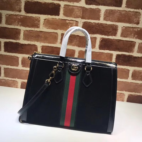 Gucci Ophidia medium top handle bag 524537 black
