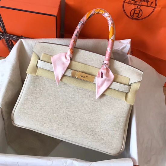 Hermes Birkin Tote Bag Original Togo Leather BK35 cream