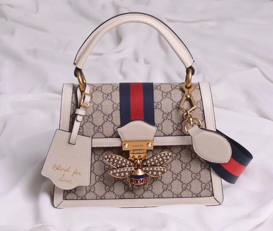 Gucci Queen Margaret GG small top handle bag 476541 white