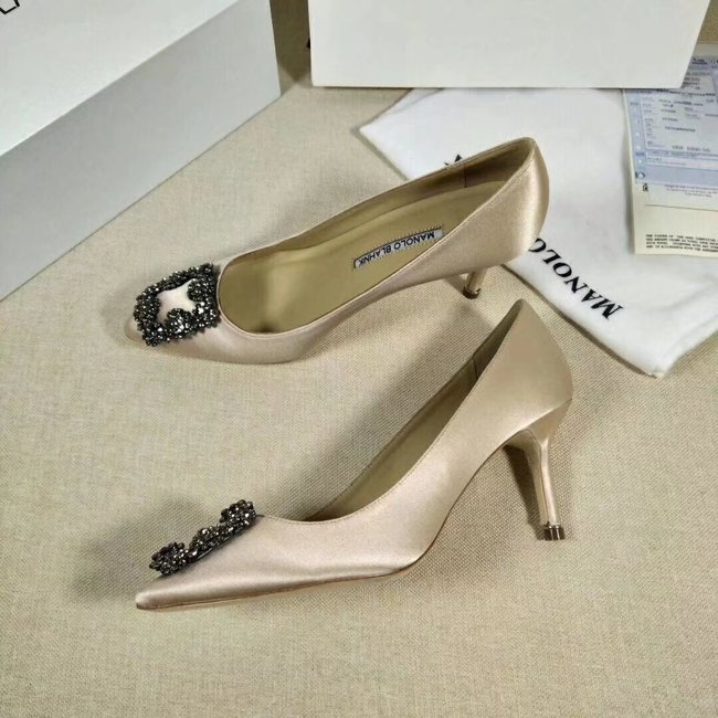Manolo Blahnik lady High-heeled shoes MB145H Heel high 6CM apricot