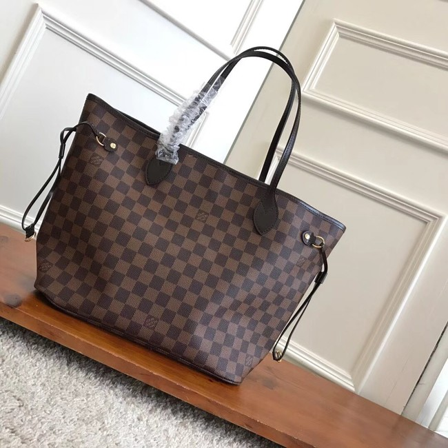 Louis Vuitton Damier Ebene Original NEVERFULL MM N41358 pink