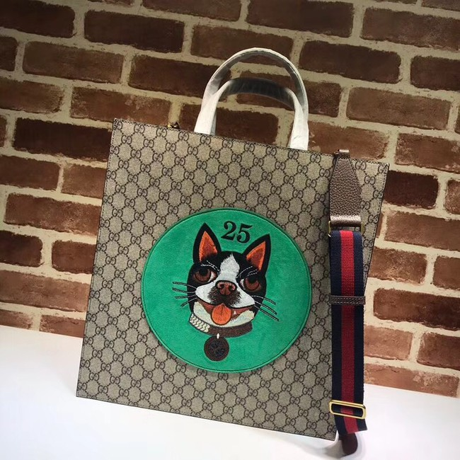 Gucci GG Now Canvas Tote Bags PVC 450950 dog