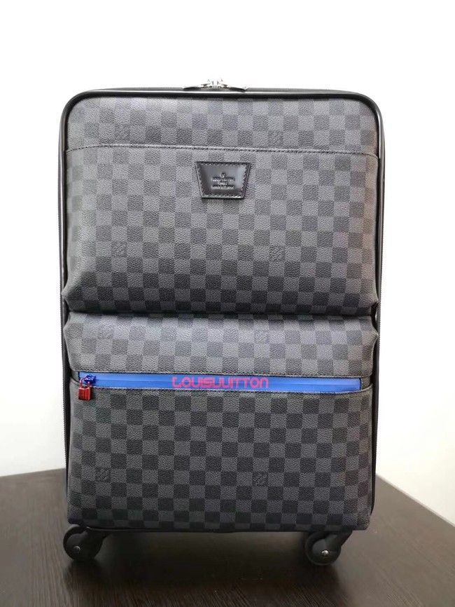Louis Vuitton Damier Graphite canvas Universal wheel Pegase 50 N41385 black