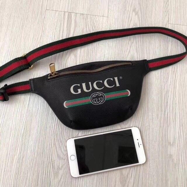 Gucci Print small belt bag 527792 black