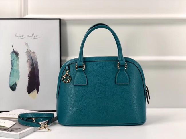 Gucci GG Calf leather top quality tote bag 449662 blue