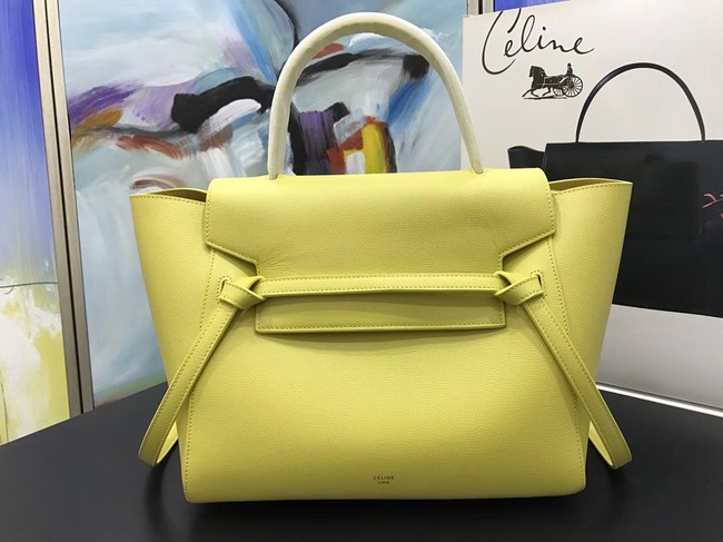 Celine Belt Bag Original Leather Medium Tote Bag A98311 yellow