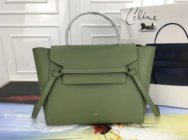 Celine Belt Bag Original Leather Medium Tote Bag A98311 green