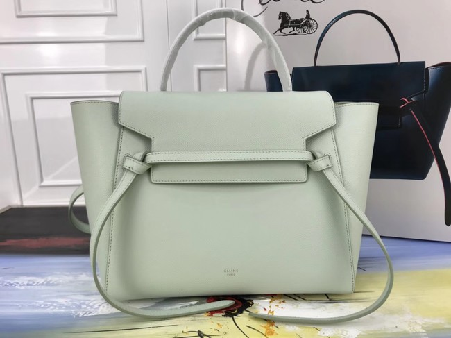 Celine Belt Bag Original Leather Medium Tote Bag A98311 Peppermint Green