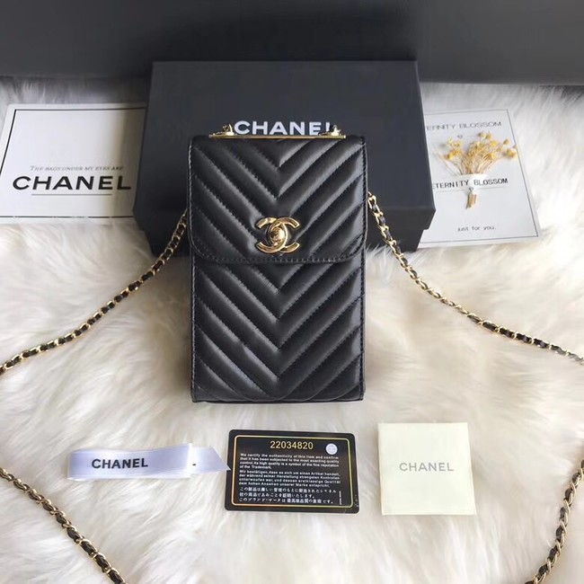 Chanel Flap Original Mobile phone bag 55698 black