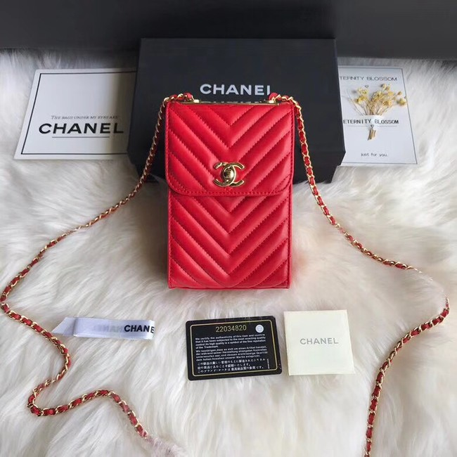 Chanel Flap Original Mobile phone bag 55698 red