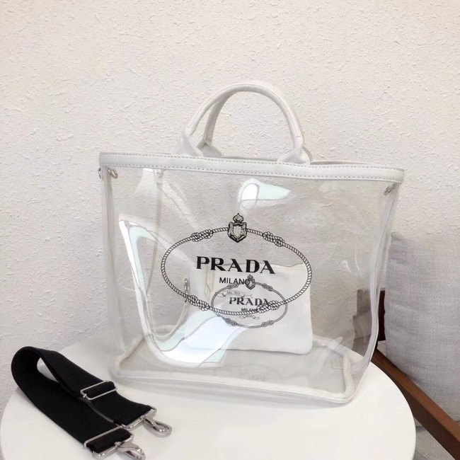 e7684690f0 Prada Fabric and Plexiglas handbag 1BG164 white