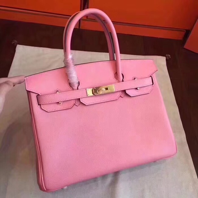 Hermes original Epsom leather birkin bag H035 pink