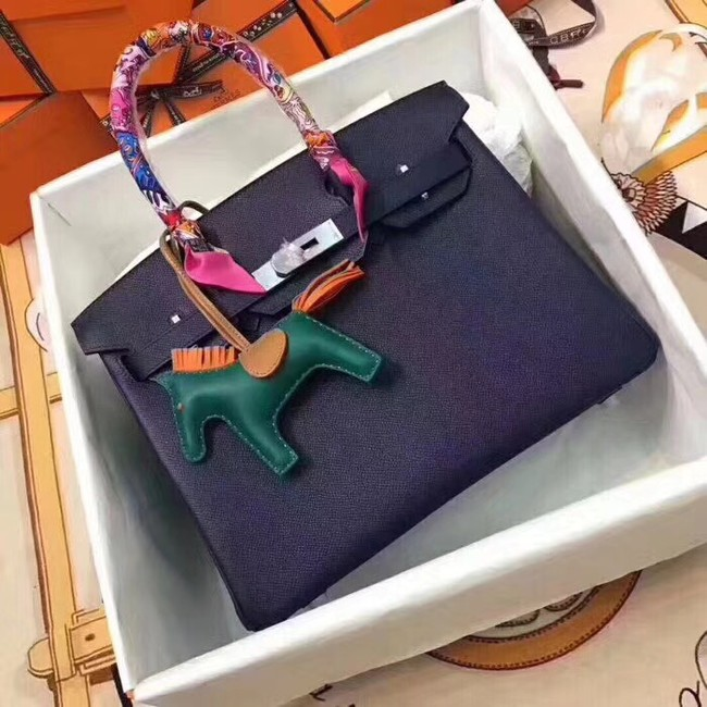 Hermes original Epsom leather birkin bag H035 purple