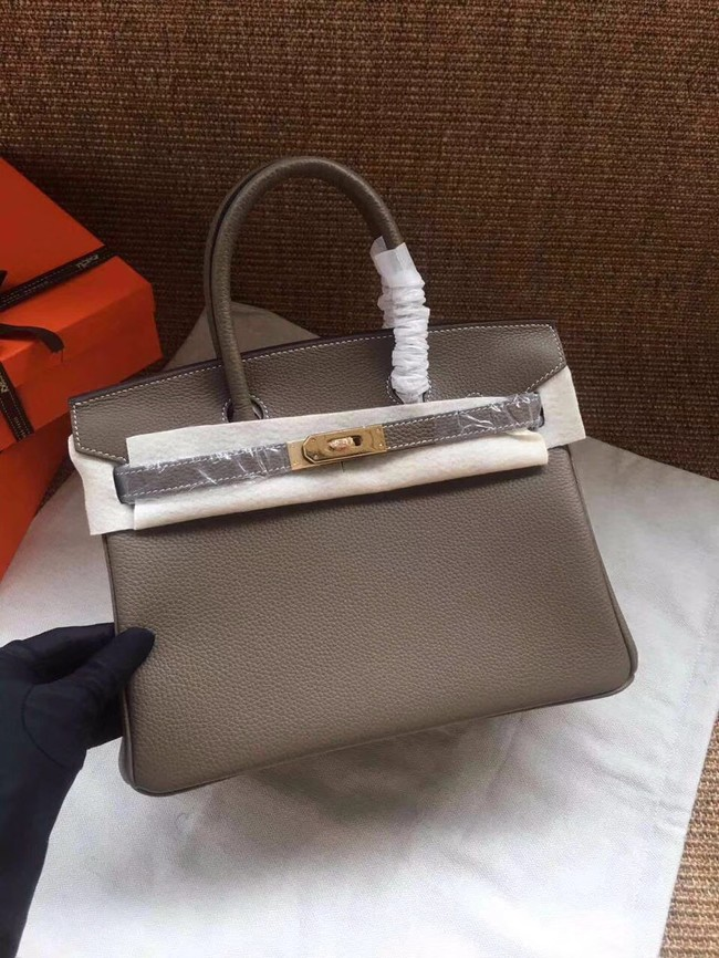 Hermes Birkin Tote Bag Original Togo Leather BK35 grey e69dfdbd85763