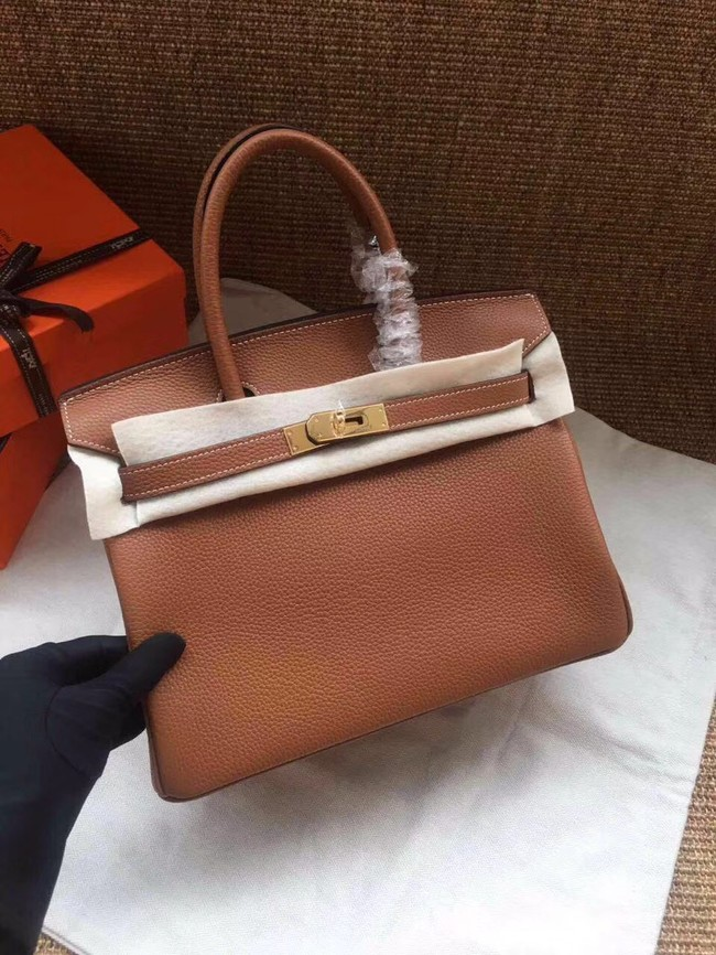 Hermes Birkin Tote Bag Original Togo Leather BK35 Camel