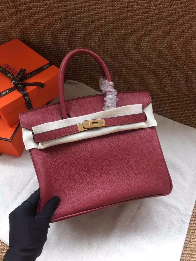 Hermes Birkin Tote Bag Original Togo Leather BK35 fuchsia