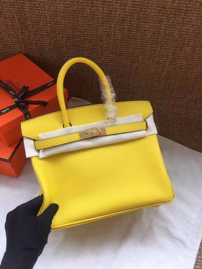 Hermes Birkin Tote Bag Original Togo Leather BK35 yellow