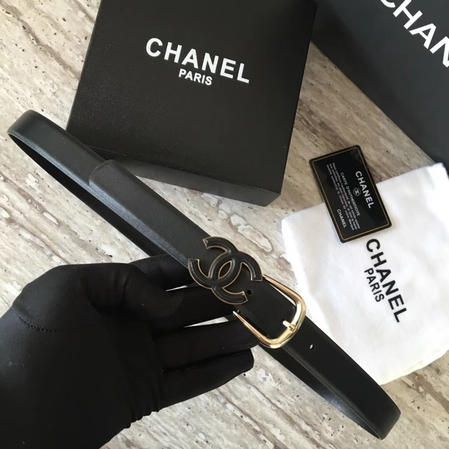 Chanel Original Calf leather Belt 56989 black