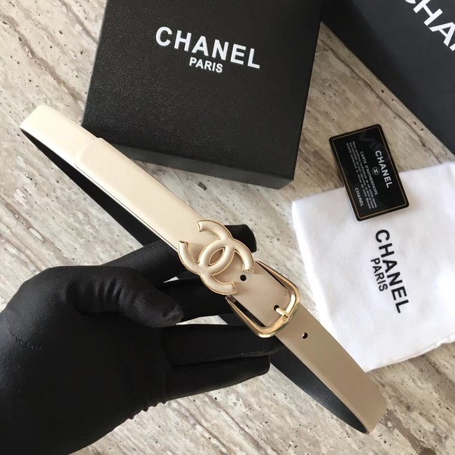 Chanel Original Calf leather Belt 56989 apricot