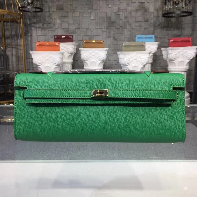 Hermes Kelly Clutch Epsom calfskin H0588 green