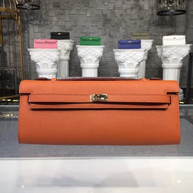 Hermes Kelly Clutch Epsom calfskin H0588 orange