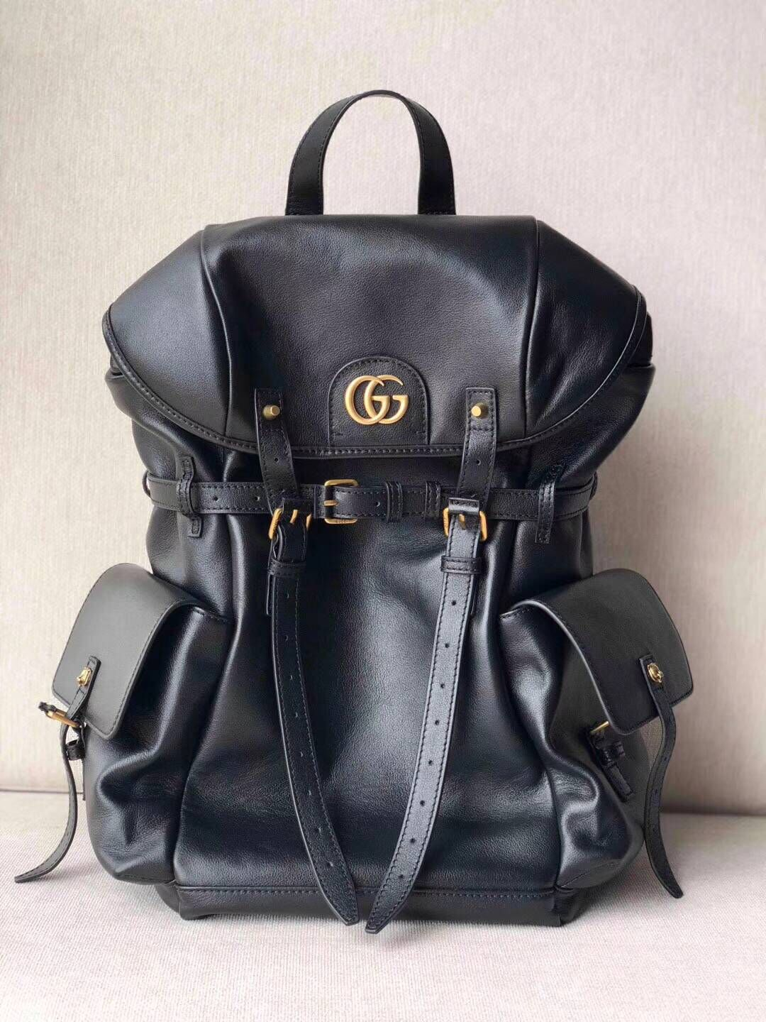 GUCCI GG Original Leather Backpack 526908 Black