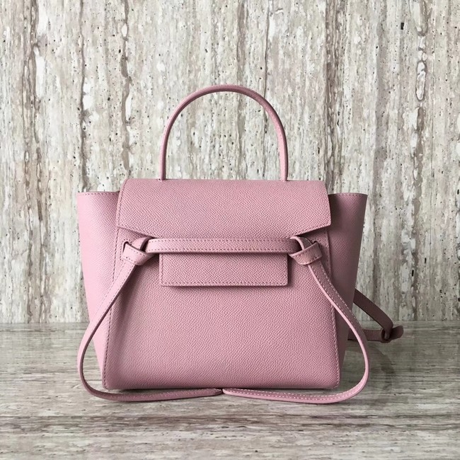 Celine  NANO BELT BAG IN GRAINED CALFSKIN 99970 pink