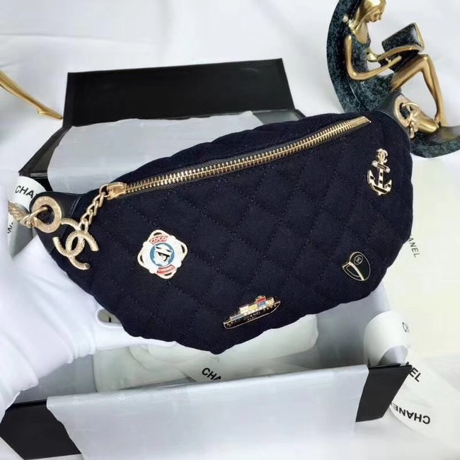 Chanel Original Waist Bag A57869 Navy Blue