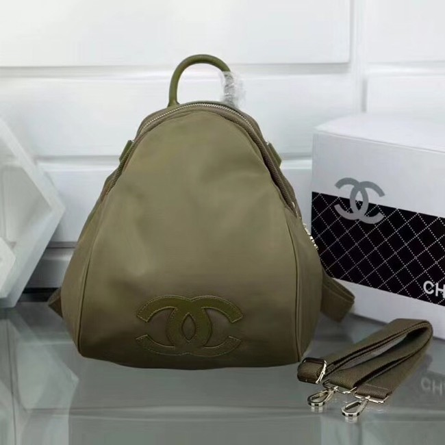 Chanel nylon Backpack A696814 Khaki
