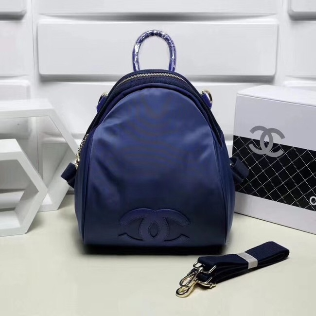Chanel nylon Backpack A696814 blue
