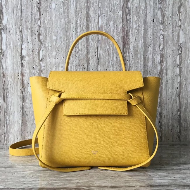Celine mini Belt Bag Original Calf Leather A98310 yellow