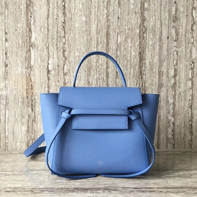 Celine mini Belt Bag Original Calf Leather A98310 sky blue