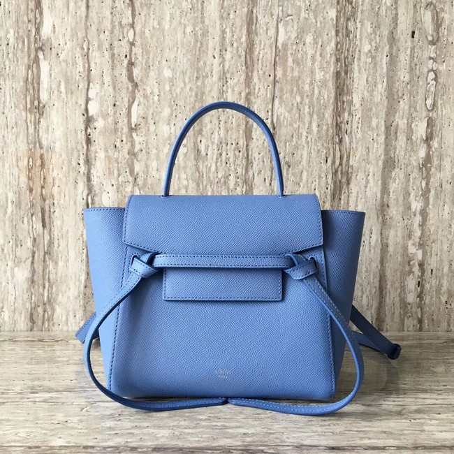 Celine NANO BELT BAG IN GRAINED CALFSKIN 99970 sky blue