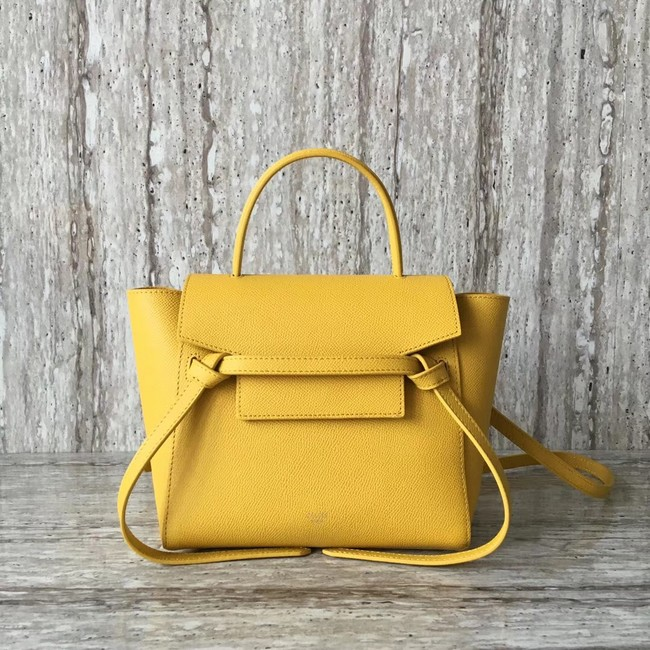 Celine NANO BELT BAG IN GRAINED CALFSKIN 99970 yellow