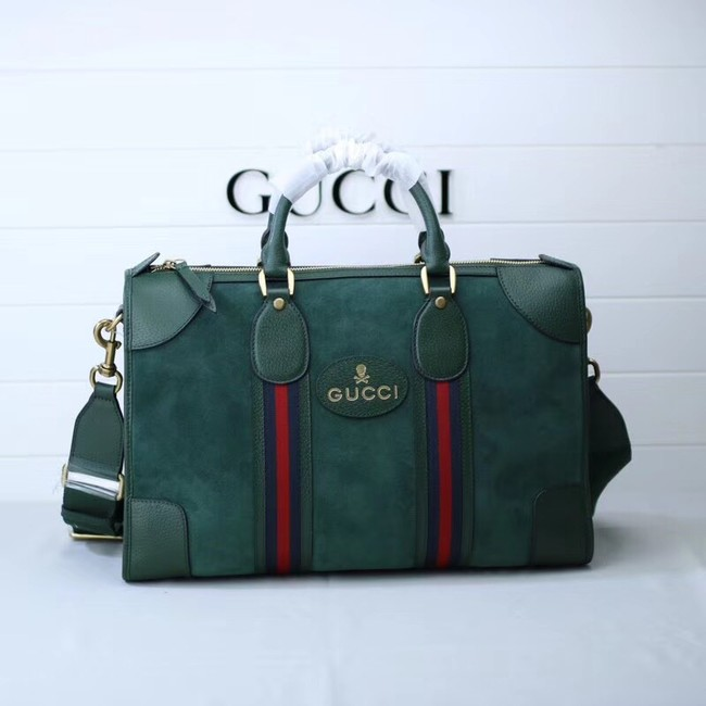 Gucci Suede duffle bag with Web 459311 green