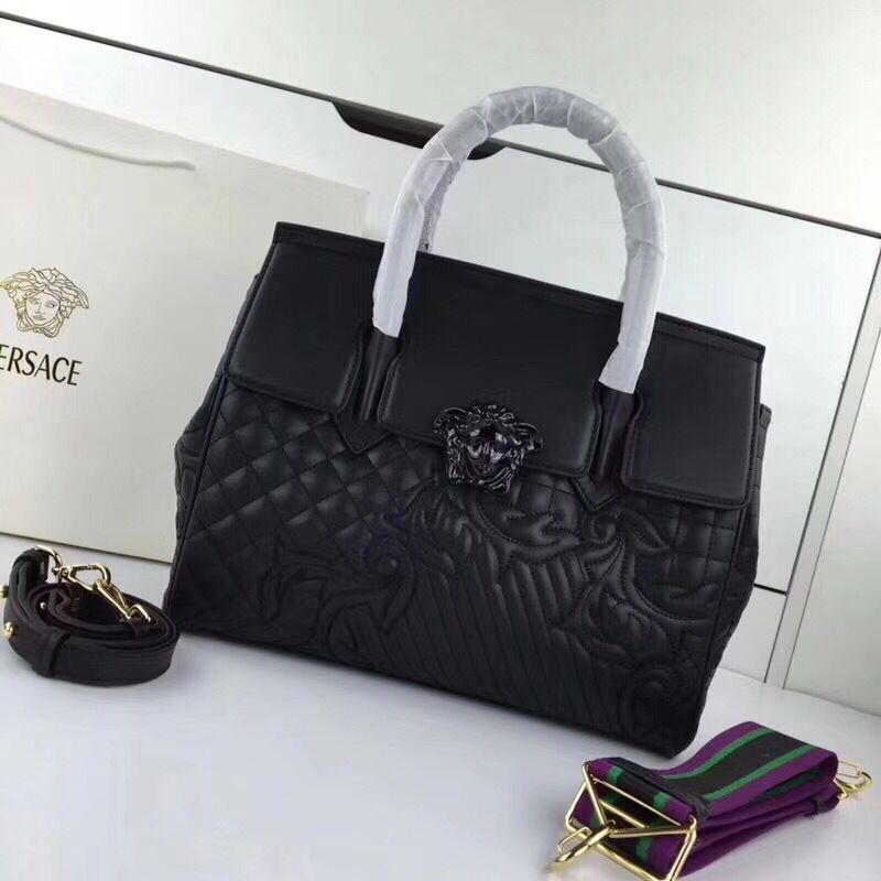 Versace Double Tote Bag 7202 Black
