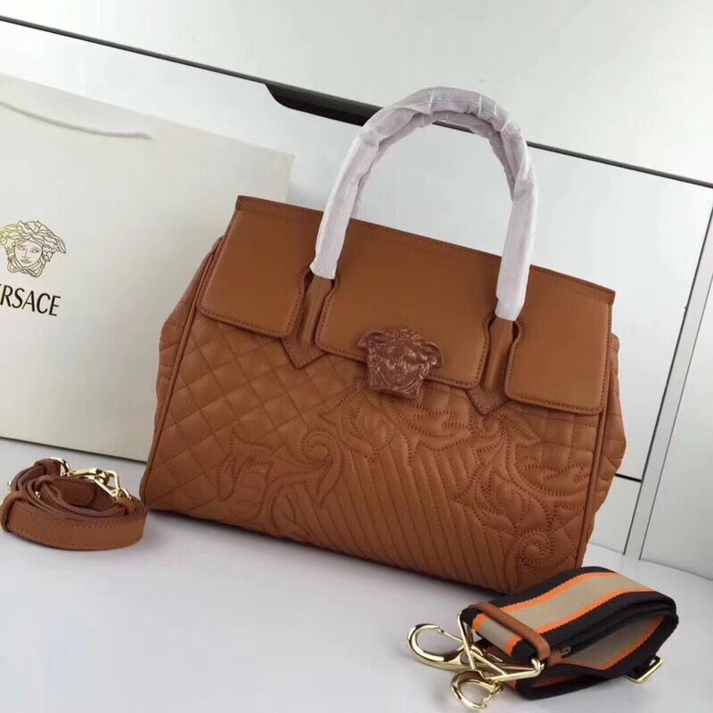 Versace Double Tote Bag 7202 Brown
