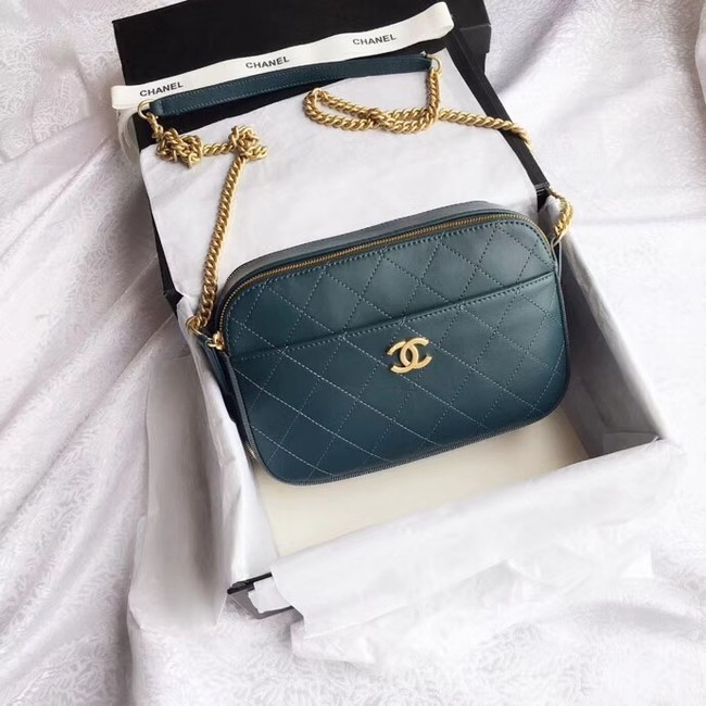 Chanel Original Camera Case A57575 Blackish green