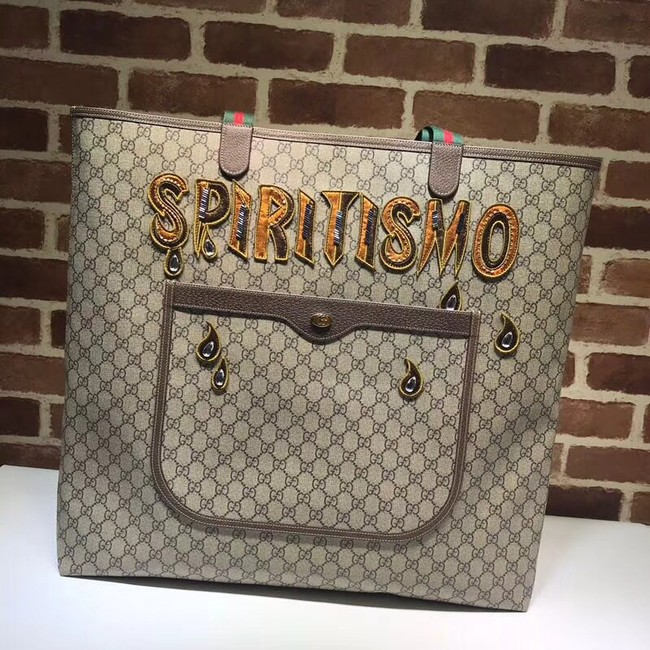 Gucci Grinding Original Leather Top Handle Shopping Bag 517418