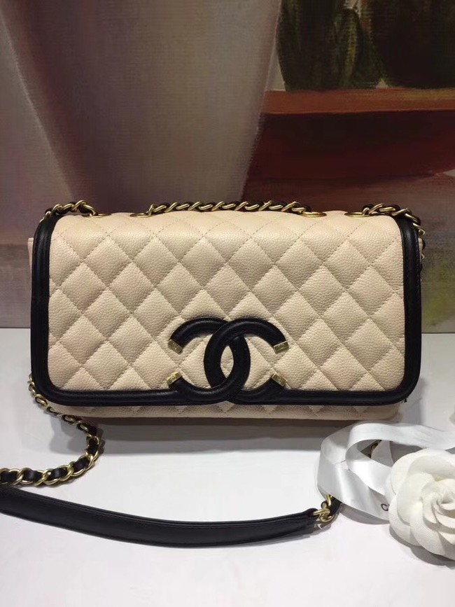 CHANEL Original Clutch with Chain A85533 creamy-white