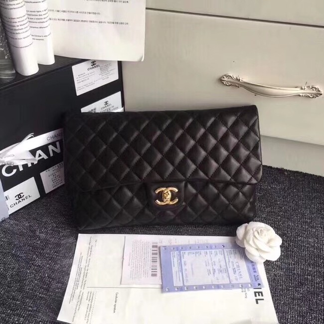 CHANEL Original Clutch Lambskin A57650 black