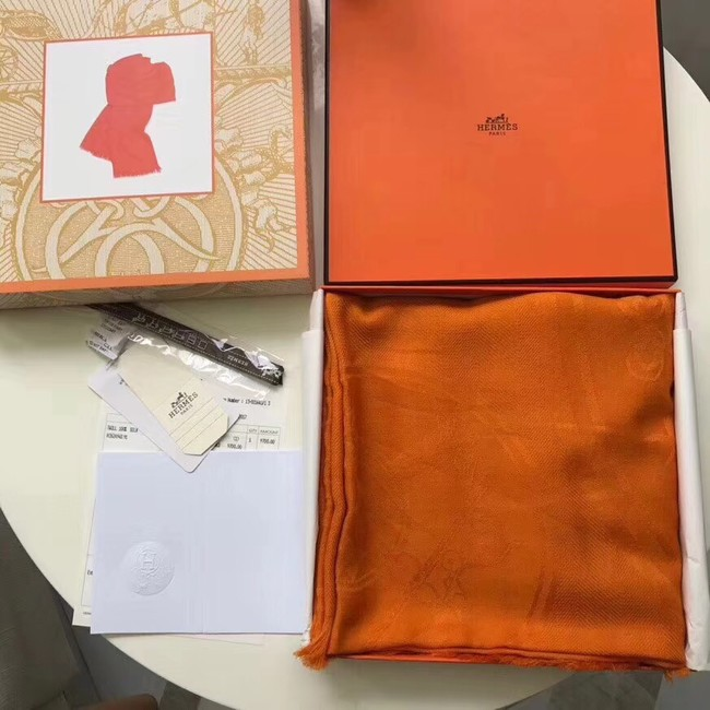 Hermes Silk scarf H919669 orange
