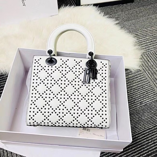 MINI LADY DIOR BAG CALFSKIN M0579S white