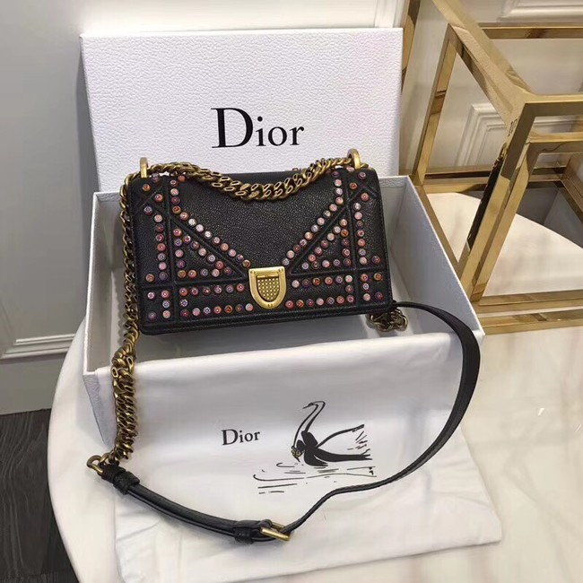 Dior SMALL DIORAMA BAG CALFSKIN M0421 black