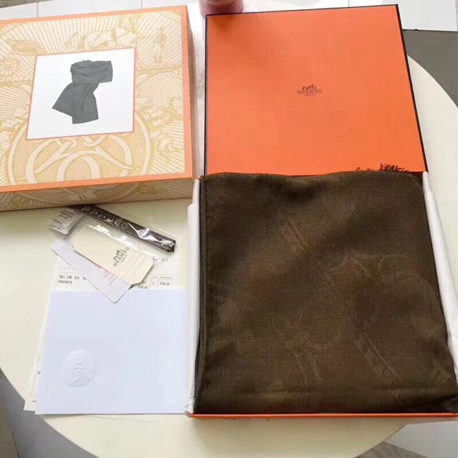 Hermes Silk scarf H919669 Chocolates