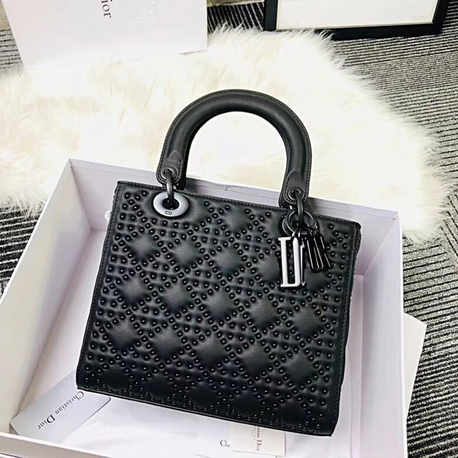 MINI LADY DIOR BAG CALFSKIN M0579S black
