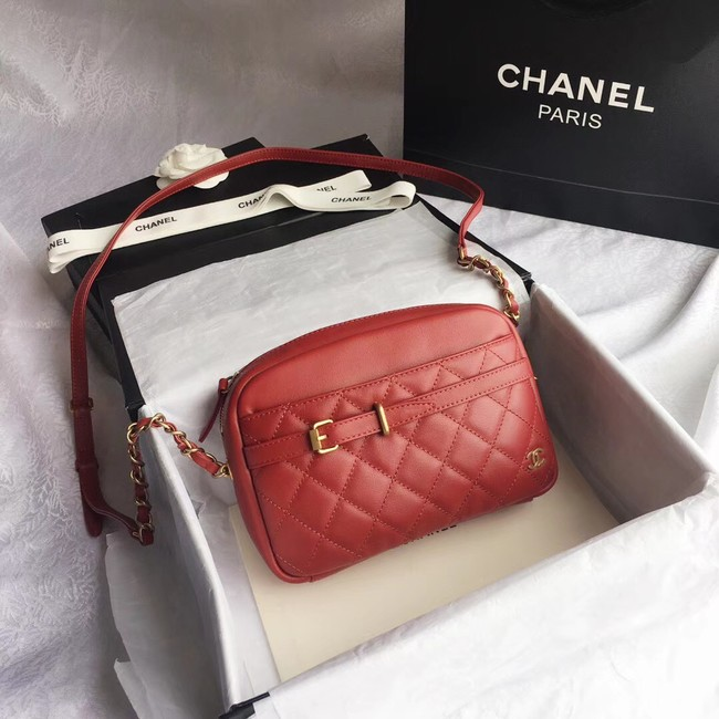 Chanel Original Camera Case Calfskin & Gold-Tone Metal A57659 red